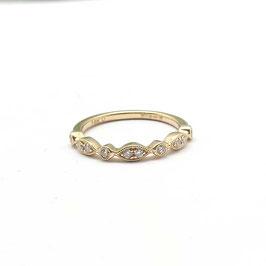 ring geelgoud met diamant vintage inspired TIJDELIJK NIET LEVERBAAR, alleen op bestelling