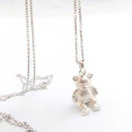Teddybeer hanger incl collier