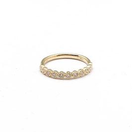 ring geelgoud met diamant vintage style ronde zetting