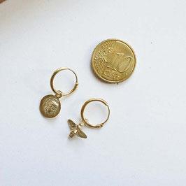 14 krt gouden muntje voor aan oorringetje of ketting