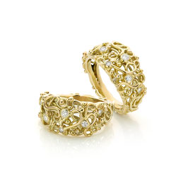 ring goud barok style met diamant
