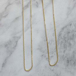 collier 14 krt goud anker of gourmet schakel 42 cm