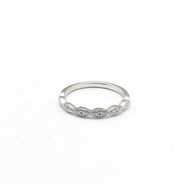Ring witgoud met diamant vintage style