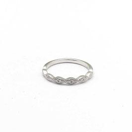 Ring witgoud met diamant vintage style