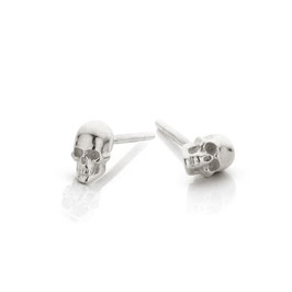 oorknopjes mini skull zilver