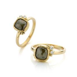 Ring goud met diamant
