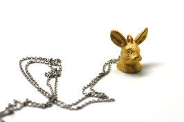 collier funny bunny, alice in wonderland