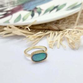 ring goud met opaal fantasie shape VERKOCHT