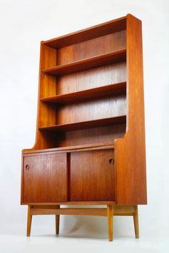 60er TEAK WAND REGAL SCHRANK DÄNISCHES DESIGN 60s TEAK WALL SHELF CABINET 60`s