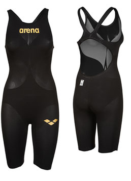 Arena Powerskin Carbon Air 2  - Wettkampfanzug FBSL, Open Back black/black/gold