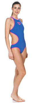 Arena Badeanzug ONE BIGLOGO ONE PIECE blau-pink (Women)