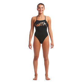 Funkita Damen Strapped In One Piece Bronzed Badeanzug