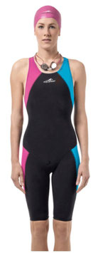Aquafeel Wettkampf Anzug schwarz/blau/pink