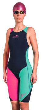Aquafeel Wettkampf Anzug schwarz/ türkis / pink