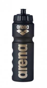 Arena Trinkflasche black-gold