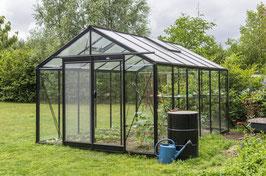 ACD Gewächshaus Glas R306H-Retro RAL 9005 schwarz 13.62m2