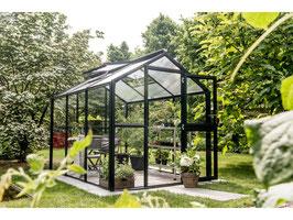 Premium Gewächshaus Galant von KGT mit 10mm Stegdoppelplatten oder seitlich Echtglas 4mm ESG