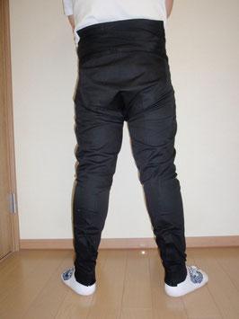岸和田一体型パッチ前ファスナー付黒
