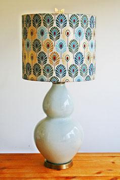 Plumes de paon lamp