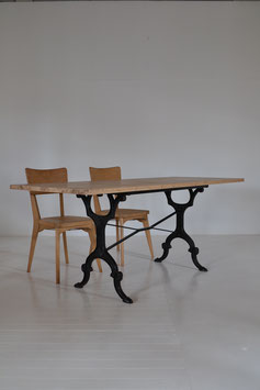 Iron leg table