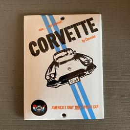 Plaque émaillée Corvette