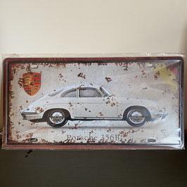 Plaque émaillée Porsche