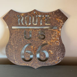 Plaque route 66 vieillie