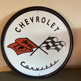 Plaque ronde Chevrolet