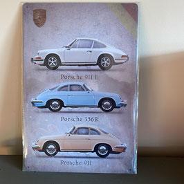 Plaque émaillée 3 Porsche