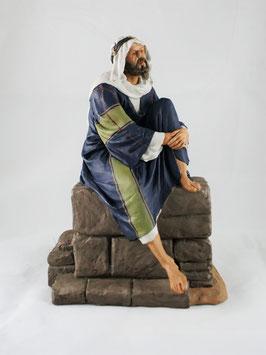 Ref.:2409 Pastor sentado en muro