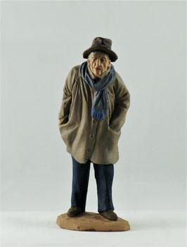 Ref.:1454 Anciano con bufanda y abrigo