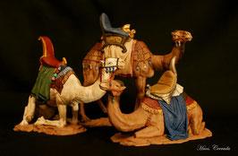 Ref.:1618 Grupo tres dromedarios para reyes adorando