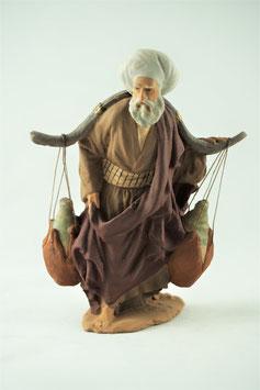 Ref.:0919 Anciano portando cántaros