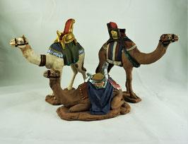 Ref.:0904 Grupo tres dromedarios para reyes adorando