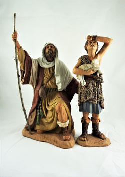 Ref.:2811 Pastor arrodillado con niño