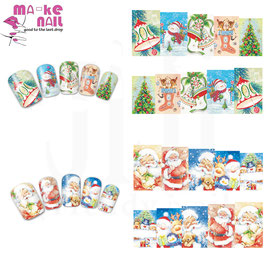 3pz STICKERS WATER DECALS MISTI NATALE