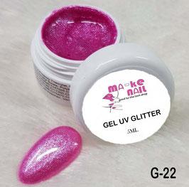 GEL UV GLITTER G-22