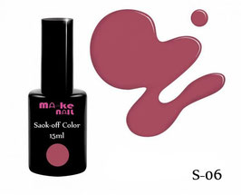 SOAK-OFF COLOR 15ML  (S-06)