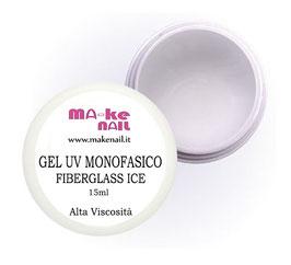 "GEL UV MONOFASICO ""FIBERGLASS ICE"" 15 ML"