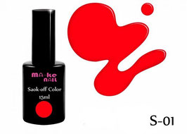 SOAK-OFF COLOR 15ML  (S-01)