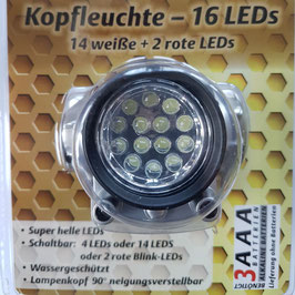 Stirnlampe - 16 Led