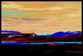 Leinwandbild, nicht von dieser Welt, Motiv: 2755, in einem Rahmen mit Schattenfuge