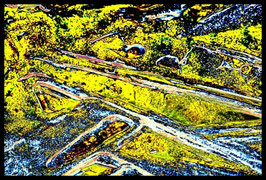 Leinwandbild zersplittert 0940a in einem Massivholzrahmen