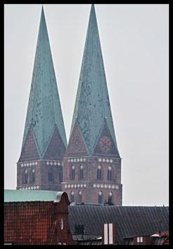 St. Marien, Motiv: 0323, in einem Rahmen mit Schattenfuge