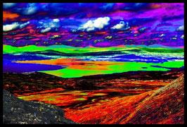 Leinwandbild, nicht von dieser Welt, Motiv: 9173, in einem Rahmen mit Schattenfuge