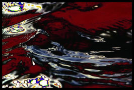 Leinwandbild, Motiv: alles in Fluss 2782, in einem Rahmen mit Schattenfuge