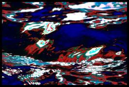 Leinwandbild, Motiv: alles in Fluss 2776, in einem Rahmen mit Schattenfuge