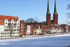 Dom im Winter, Motiv: 1225, auf einen Trägerrahmen gespannt