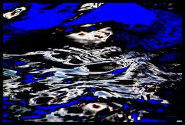 Leinwandbild, Motiv: alles in Fluss 2780, in einem Massivholzrahmen