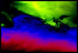 Leinwandbild, Sternenstaub, Motiv: 9642 in einem Rahmen mit Schattenfuge